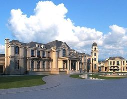 European classical castle 3D