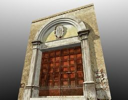 Medieval Romanic Style Portal no 1 3D Model