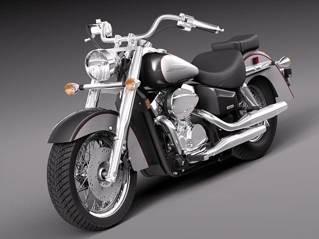 honda shadow aero 750 2 3d model max obj mtl 3ds fbx c4d lwo lw lws 1
