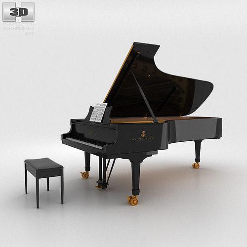 grand piano 3d model max obj 3ds fbx c4d lwo lw lws 1