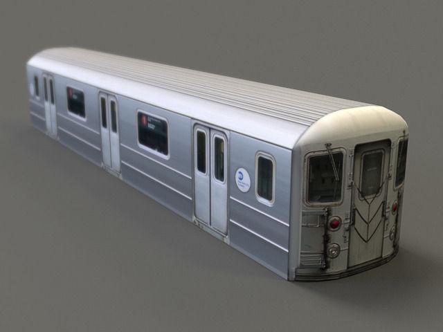 3d model subway car r62 vr ar low poly max fbx. Black Bedroom Furniture Sets. Home Design Ideas