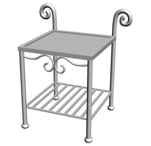 Wrought Iron Table 013D model