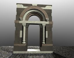 Medieval Romanic Style Portal no 3 3D Model