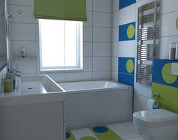 Bathroom 3D model architectural