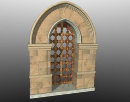 Medieval Lombard Style Portal no 2 3D Model