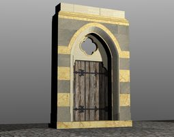 Medieval Lombard Style Portal no 3 3D Model