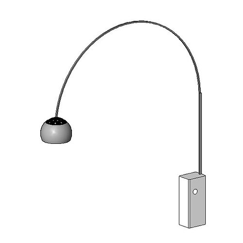 lampe de bureau - arc 3d model rfa 1