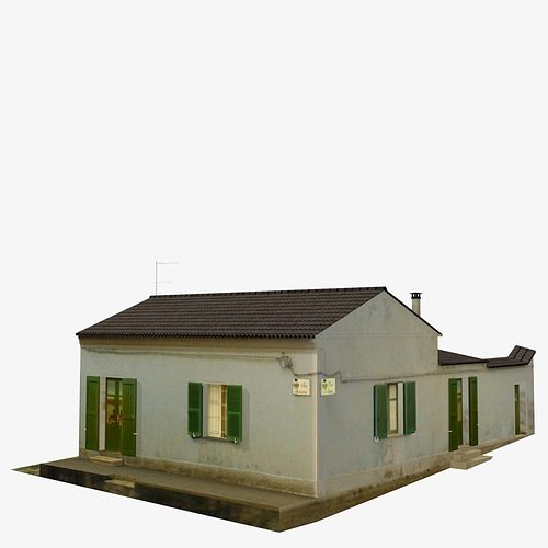 3d model village home n w vr ar low poly max obj wrl Home 3d model