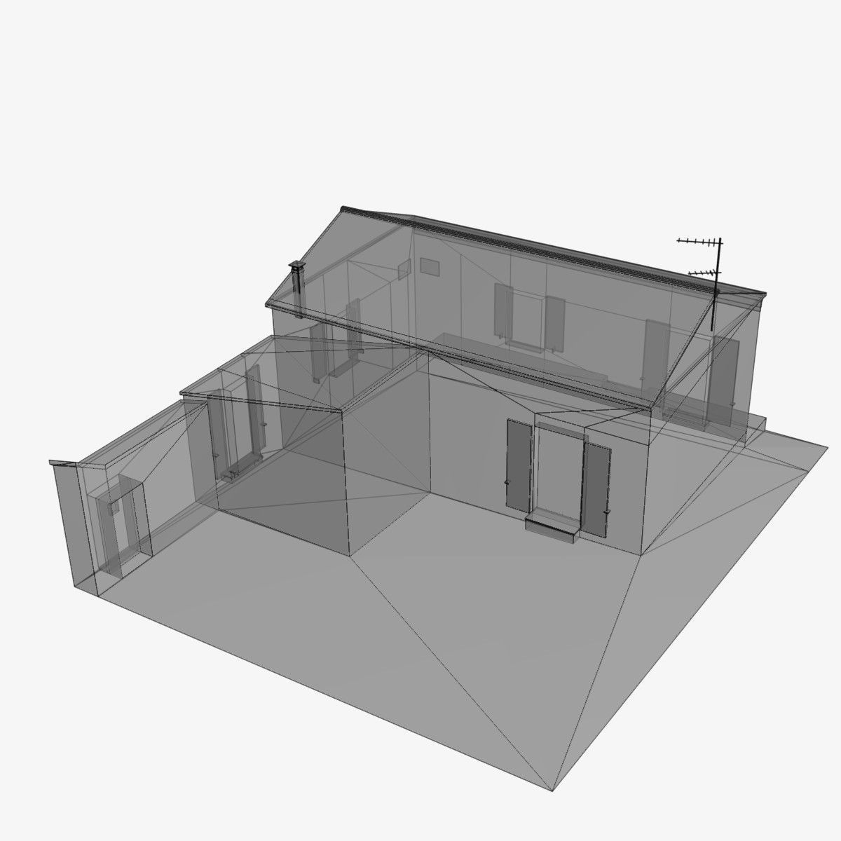 Village home n w 3d model game ready max obj wrl wrz Home 3d model