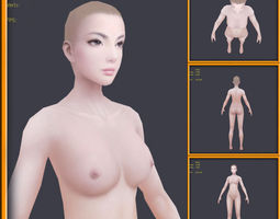 Realistic female Body -No Rig 3D Model