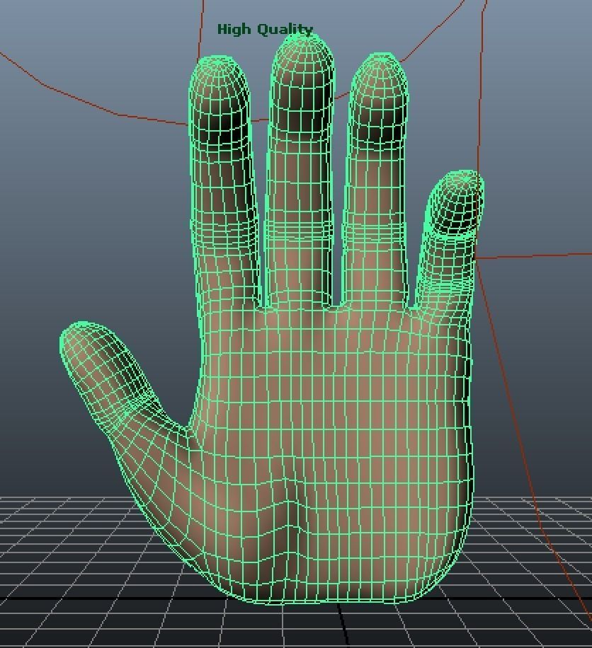 Human Hand 3D Model 3D Printable OBJ