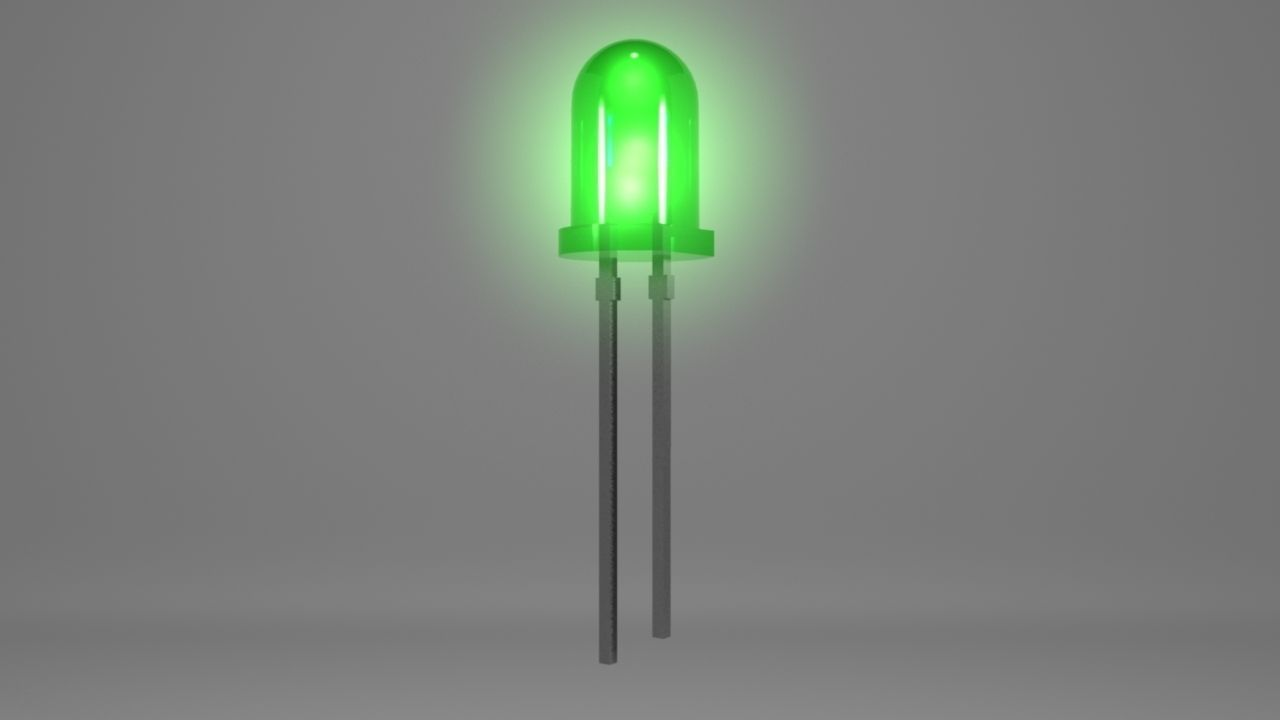 Led Light 3d Model 3d Printable Obj Ma Mb