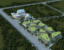 Modern buildings 3D model