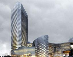 Modern shopping malls 3D