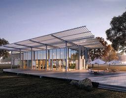 exterior Modern villa 3D model