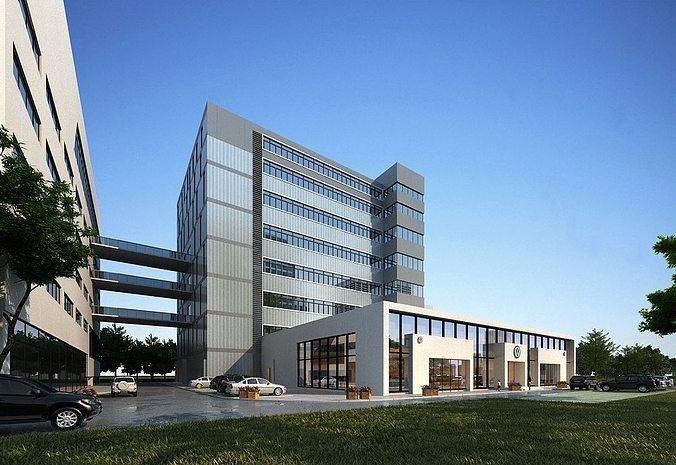 office-type buildings 3d model max tga 1