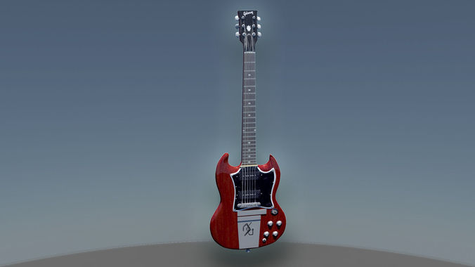 Gibson sg diavoletto   Guitar3D model