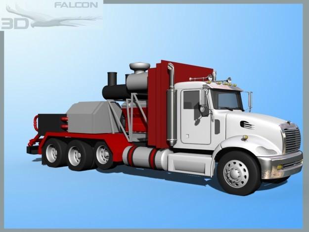 Falcon3D Fracking Pumper Truck3D model