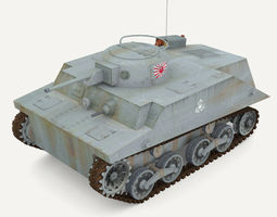 Tank Type 2 Ka-Mi 3D Model