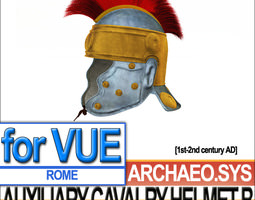 Ancient Rome Auxiliary Cavalry Helmet B 3D Model