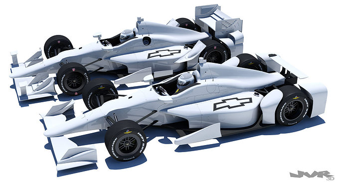 indycar chevrolet road and oval aero kit 3d model max obj 3ds fbx mtl pdf 1