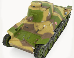 Tank Type 97 Chi-Ha 3D Model