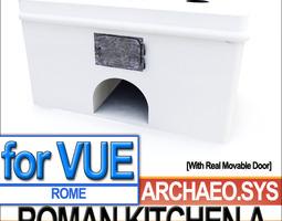 Ancient Rome Kitchen A 3D Model