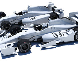 indycar honda road and oval aero kit 3d model