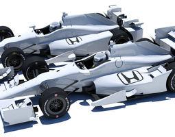 indycar honda road and oval aero kit 3d
