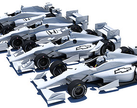 Indycar road and oval aero kit 3D