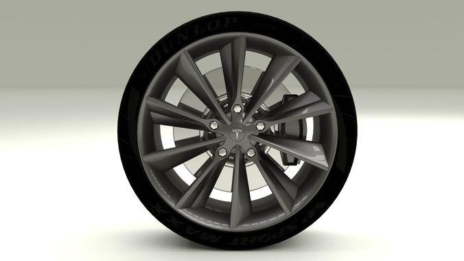 Tesla Model S Wheel3D model
