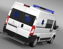 Peugeot Boxer Van Ambulance 2015  3D Model