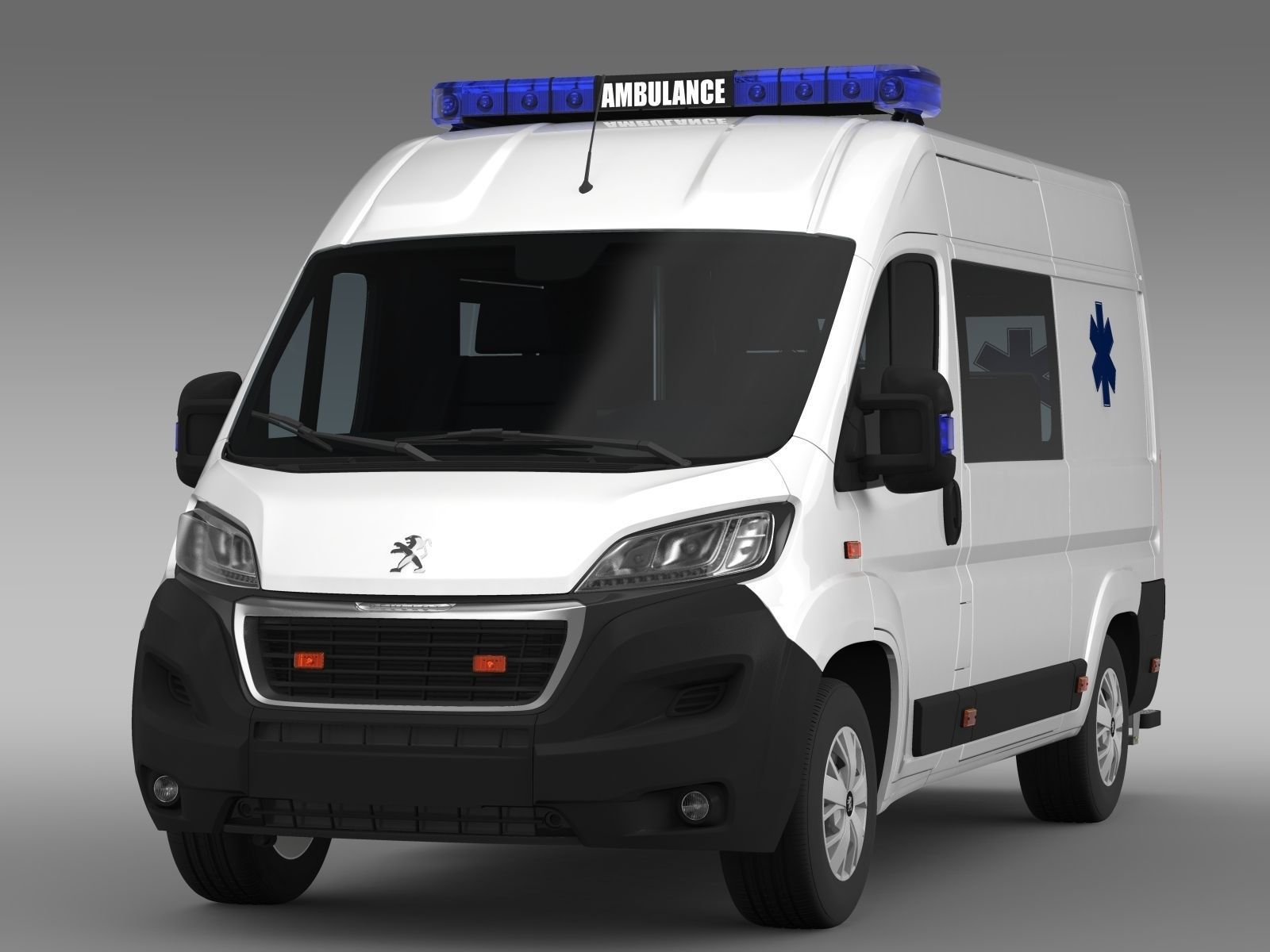 peugeot boxer van ambulance 2015 3d model max obj 3ds. Black Bedroom Furniture Sets. Home Design Ideas