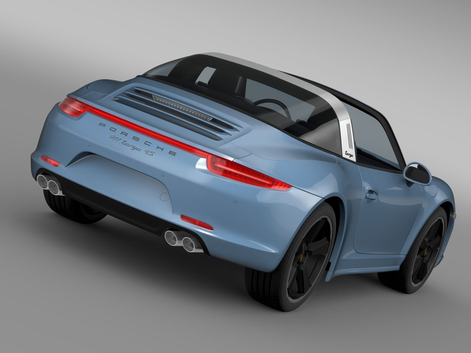 porsche 911 targa 4s exclusive 2015 3d model cgtrader