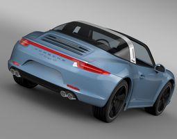 Porsche 911 Targa 4s Exclusive 2015 3D Model