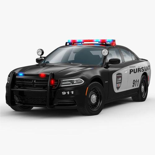 Dodge Charger 2015 Police 3D Model .max .obj .3ds .fbx ... 2015 Police Charger