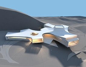3D model Shaped building one