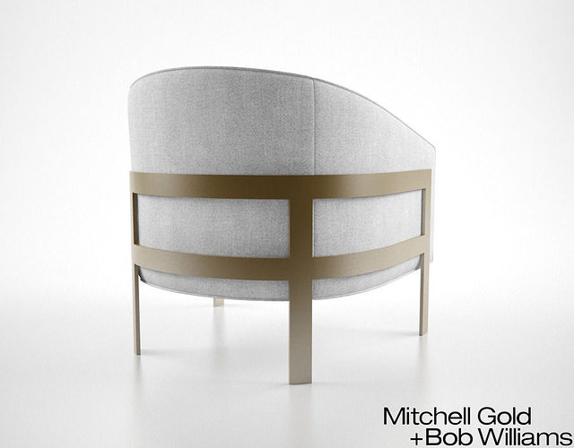 Beau ... Mitchell Gold And Bob Williams Avery Chair 3d Model Max Obj Fbx Mtl 4  ...