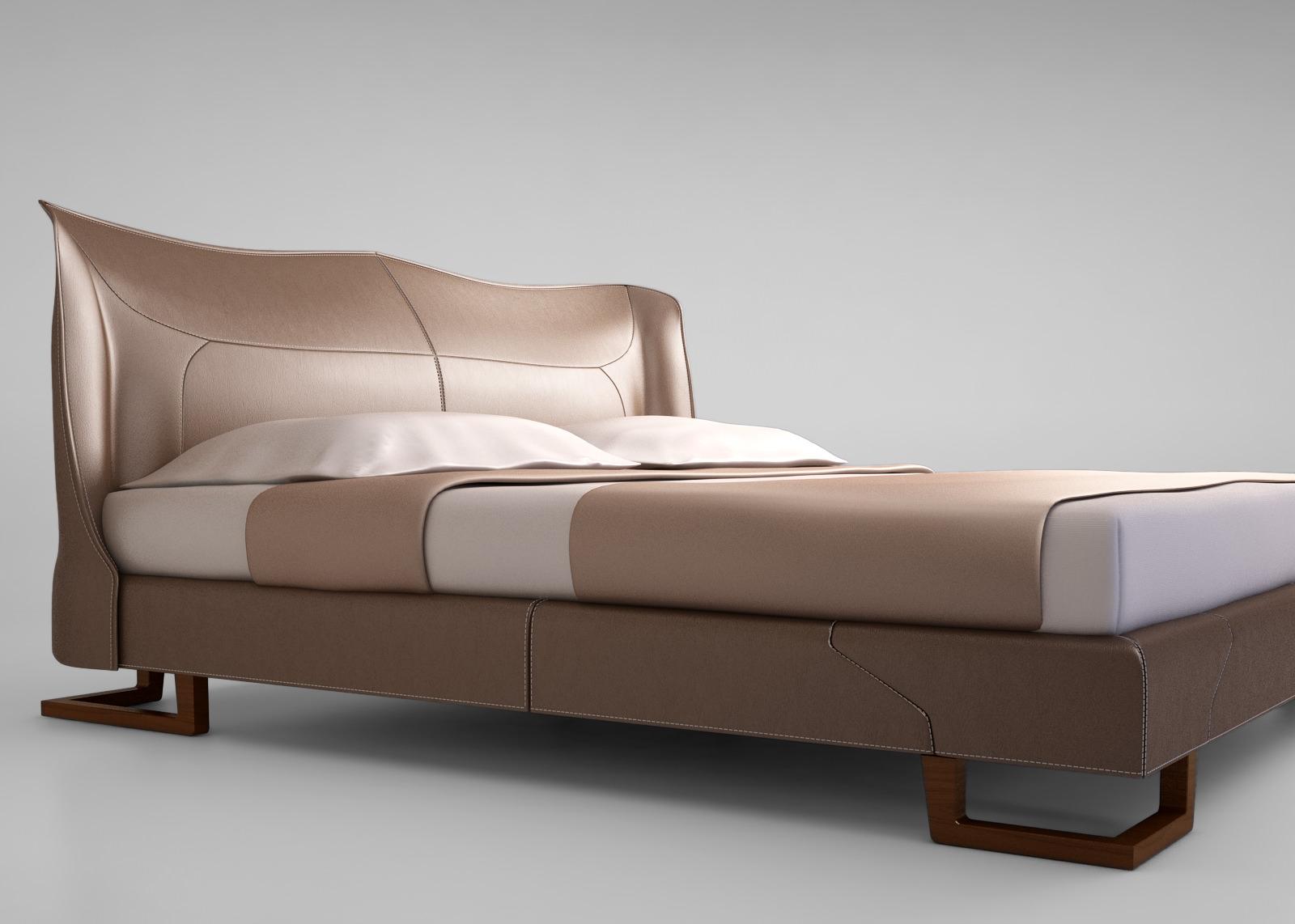 Giorgetti Corium Bed 3d Model Max Obj Mtl Cgtrader Com