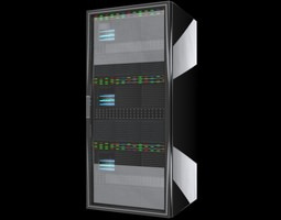 CPU Server Rack Unit 3D Model 3D Model