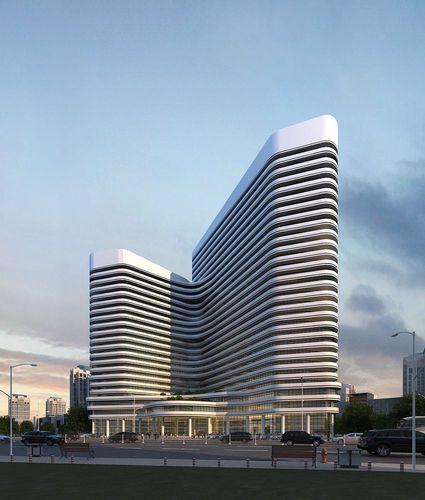 White apartment building3D model