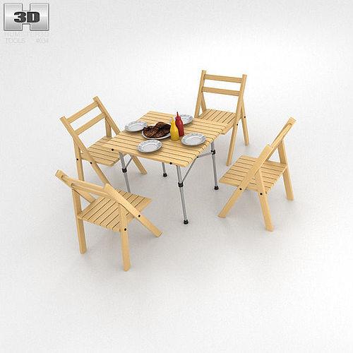 barbecue table 3d model max obj mtl 3ds fbx c4d lwo lw lws 1