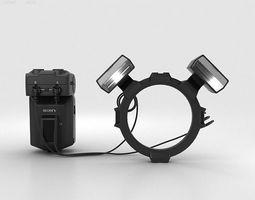 sony hvl-mt24am macro twin flash kit 3d model max obj 3ds fbx c4d lwo lw lws