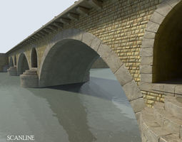 Arched Stone bridge 3D Model