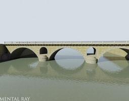 Arched Stone bridge 3D Model