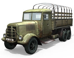 Army Truck 3D model low-poly