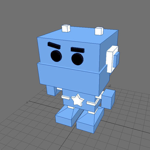 Cute 3D Robot 3D Model 3D printable STL - CGTrader.com