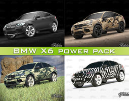 BMW X6 power Pack 3D Model
