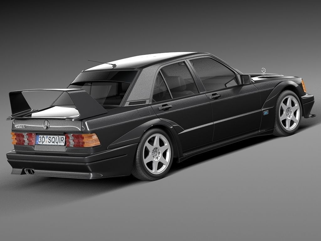 mercedes benz 190e w201 evolution ii 1990 3d model max