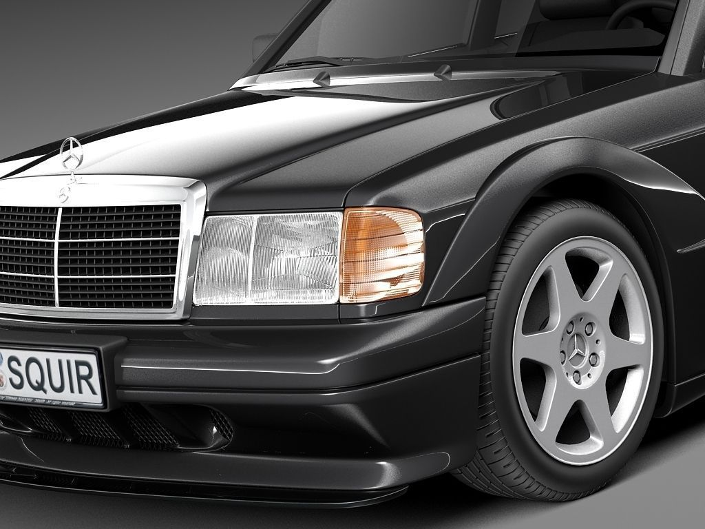 mercedes benz 190e w201 evolution ii 1990 3d model max. Black Bedroom Furniture Sets. Home Design Ideas